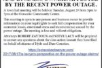 Zaytoun Law Firm to hold town hall meeting on Ocracoke for those affected by the Outer Banks power outage. Meeting scheduled for Tuesday, 8/29/17, from 5-7pm at Ocracoke Community Center.